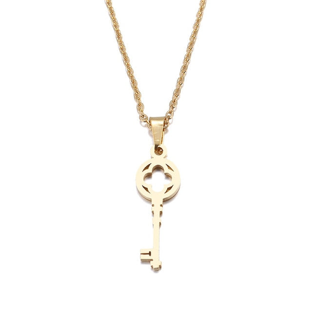 Stainless Steel Key Pendant Necklace - Eve Merch