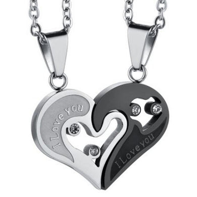 Fashion Couple Heart Shape Pendant Necklace - Eve Merch