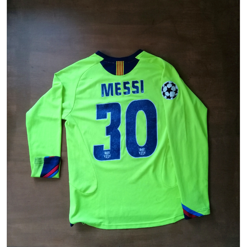 MESSI 2005-06 BARCELONA SECOND JERSEY