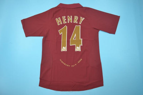 THIERRY HENRY 14 HIGHBURY FINAL GAME EDITION JERSEY