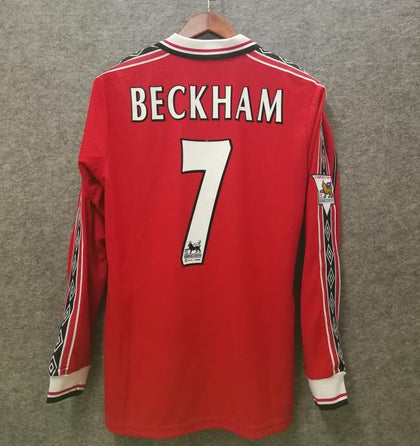 DAVID BECKHAM 7 MANCHESTER UNITED 98/99 SEASON JERSEY