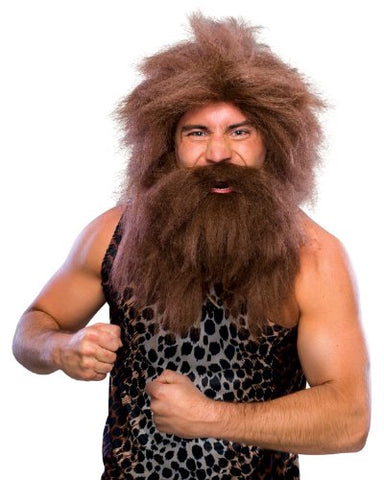 Rubie's Costume Characters Caveman Beard And Set Wig One Size Brown