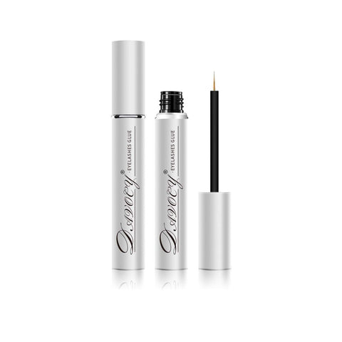 Davocy Eyelash Glue - Strong Hold, Clear, Latex-Free, waterproof. Best hypoallergenic adhesive for strip eyelash extension, false eyelashes, mink lashes. Perfect duo for sensitive eyes. 5.5ML 0.18OZ 5.5ML 0.18 Ounce