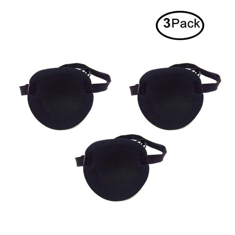 Soochat Eye Patch -Adult Kid's Adjustable Soft and Comfortable Eye Patch Single Eye Mask for Recovery Eye Amblyopia | Halloween (3Pack)