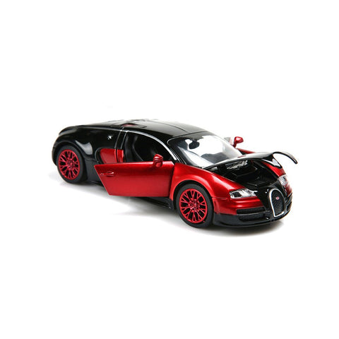 ZHFUYS 1:32 Bugatti Veyron diecast car ,Alloy Model Cars Toy Cars for 2 to 7 Years Old (red) Red 1