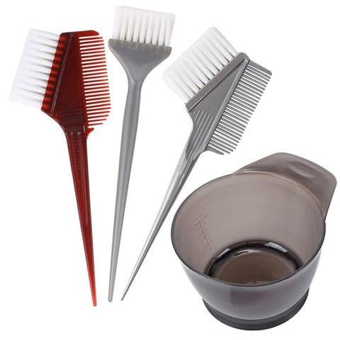 4 PCS Professional Salon Hair Coloring Dyeing Kit 2019 Version Hair Dye Brush and Bowl Set - Dye Brush & Comb/Mixing Bowl/Tint Tool