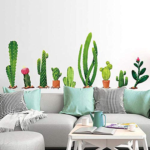 Cactus Wall Decal, H2MTOOL Removable Cacti Stickers for Kids Rooms Nursery Decor (Cactus) Cactus
