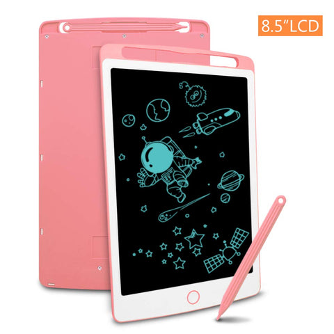 Richgv LCD Writing Tablet, 8.5 Inch Electronic Graphics Tablet Ewriter Board Mini Drawing Pad Gifts for Kids and Adults Pink 8.5 Inches