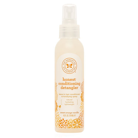 The Honest Company Sweet Orange Vanilla Conditioning Detangler Spray  Lightweight Leave-in Conditioner & Fortifying Spray Paraben & Synthetic Fragrance Free Plant-Based VEGAN 4 fl. oz. Pack of 1
