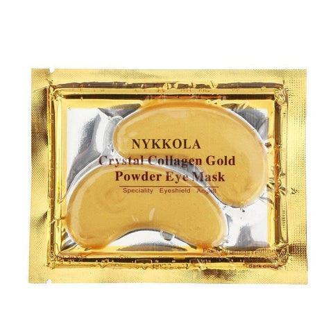 10 Pairs New Crystal 24K Gold Powder Gel Collagen Eye Mask Masks Sheet Patch, Anti Aging,Dark Circles and Puffiness, Anti Wrinkle, Moisturising,Whitening, Remove Blemishes and Blackheads by NYKKOLA 10 Pairs