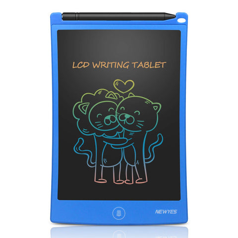 NEWYES 8.5 Inches Colorful Doodle Board LCD Screen Writing Tablet Magnetic Drawing Board Erasable Doodles Notepad Gifts for Ages 3+ Blue blue-1