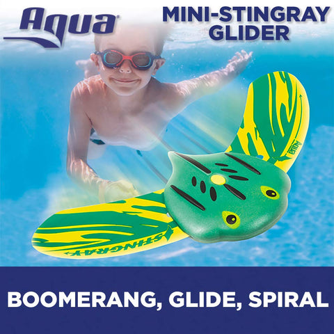 Aqua Mini Stingray Underwater Gliders (2 Pack), Self-Propelled, Adjustable Fins, Travels up to 40 Feet, Pool Game, Ages 5 and up Mini Stingrays (2-Pack)