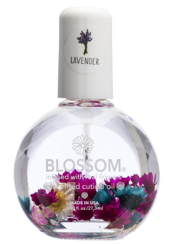 Blossom Scented Cuticle Oil (0.92 oz/large) infused with real flowers - made in USA (Lavender) Lavender
