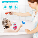 Hommate Flower Bath Toys Bathtub Toys for Toddlers Babies Kids 1 2 3 Year Old Girls Boys Gifts with 1 Mini Sprinkler 2 Toys Cups Strong Suction Cups Gifts Ideal with Color Box (Multicolor)