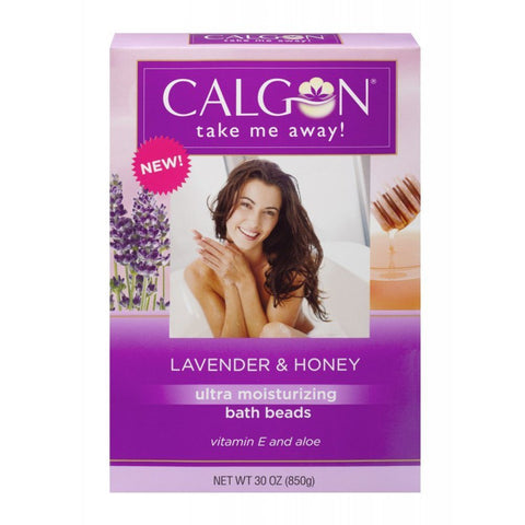 Calgon Ultra-Moisturizing Bath Beads (Lavender and Honey, 30-Ounce) Lavender & Honey