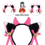 Cat Cosplay Costume Kitten Tail Ears Collar Paws Gloves Anime Lolita Gothic Set Black +White
