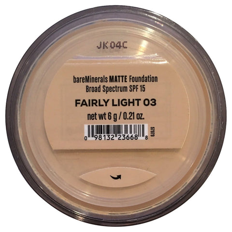 Bare Escentuals Bare Minerals Foundation Matte SPF 15 Fairly Light, Large, 1 Count 0.21 Ounce