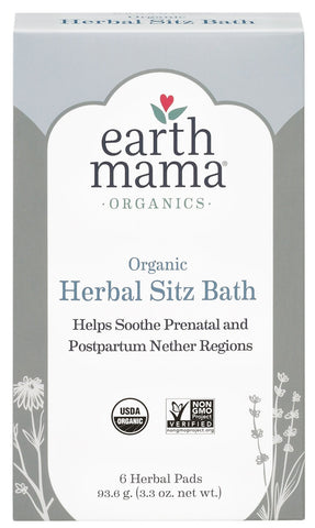 Earth Mama Organic Herbal Sitz Bath for Pregnancy and Postpartum, 6-Count Single
