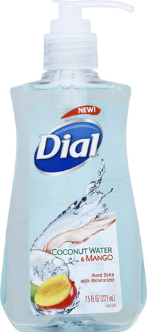 Dial Liquid Hand Soap, Coconut Water & Mango, 7.5 Fluid Ounces 7.5 Fl Oz (Pack of 1)