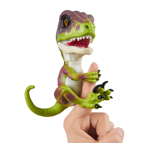 Untamed Raptor by Fingerlings - Stealth (Green) - Interactive Collectible Dinosaur - By WowWee Stealth (Green)