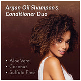 ArtNaturals Organic Moroccan Argan Oil Shampoo and Conditioner Set - (2 x 16 Fl Oz / 473ml) - Sulfate Free - Volumizing & Moisturizing - Gentle on Curly & Color Treated Hair - Infused with Keratin