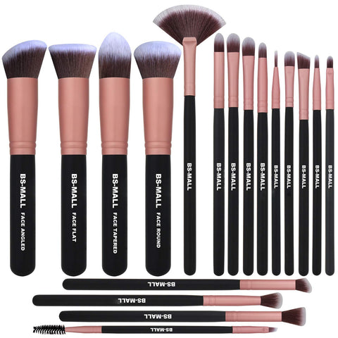 BS-MALL Makeup Brushes Premium Makeup Brush Set Synthetic Kabuki Cosmetics Foundation Blending Blush Eyeliner Face Powder Brush Makeup Brush Kit (Rose Gold) Rose Gold