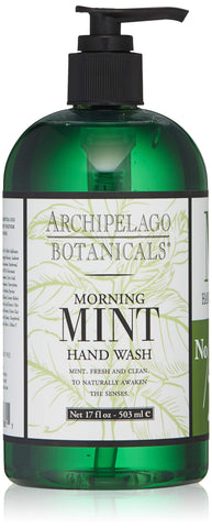 Archipelago Botanicals Morning Mint Hand Wash, 17 Fl Oz