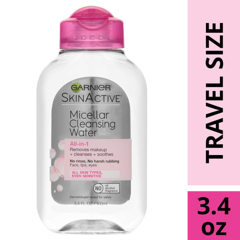 Garnier SkinActive Micellar Cleansing Water, For All Skin Types, 3.4 Ounce 3.4 Fl Oz (Pack of 1) 1 Count