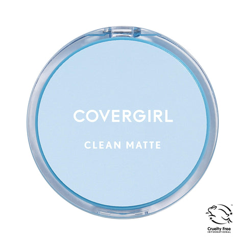 COVERGIRL Clean Matte Pressed Powder, Medium Light (Packaging May Vary) 1 Count