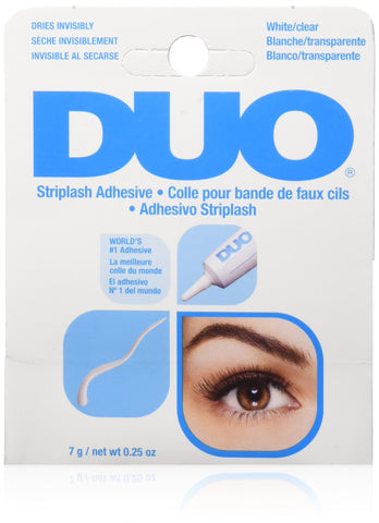 DUO Strip Lash Adhesive White/Clear, for strip false eyelash, 0.25 oz 0.25 Ounce (Pack of 1)