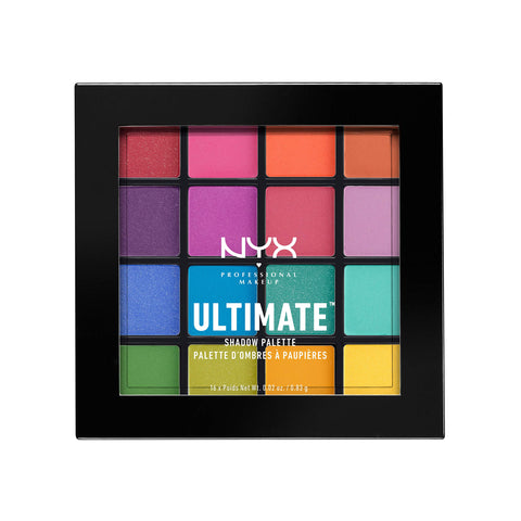 NYX PROFESSIONAL MAKEUP Ultimate Shadow Palette, Eyeshadow Palette, Brights (1 Count) 1 ct. Brights 1 Count