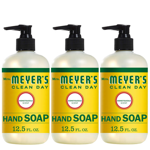 Mrs. Meyer´s Clean Day Hand Soap, Honeysuckle, 12.5 fl oz, 3 ct 12.5 fl oz (Pack of 3)