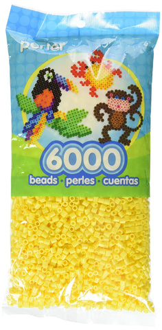 Perler Beads Fuse Beads for Crafts, 6000pcs, Yellow