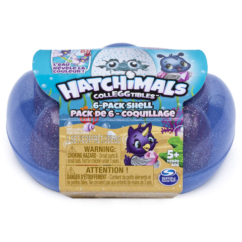 Hatchimals CollEGGtibles, Mermal Magic 6 Pack Shell Carrying Case with Season 5 CollEGGtibles, for Kids Aged 5 and Up (Color May Vary)