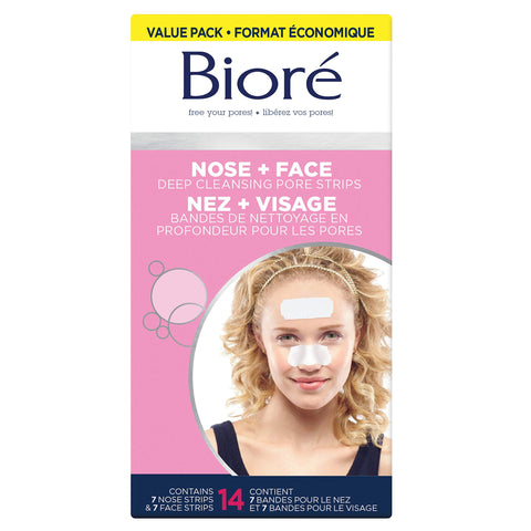 Bioré Blackhead Removing and Pore Unclogging Deep Cleansing Pore Strip, 18 Count 14 count Combo Strips