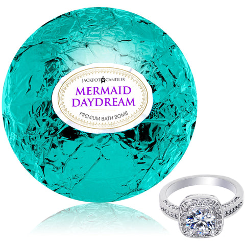 Bath Bomb with Ring Inside Mermaid Daydream Extra Large 10 oz. Made in USA (Surprise) Surprise