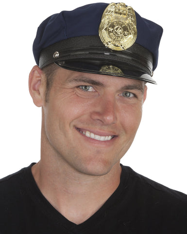 Jacobson Hat Company Men's Adult Police Cap Navy