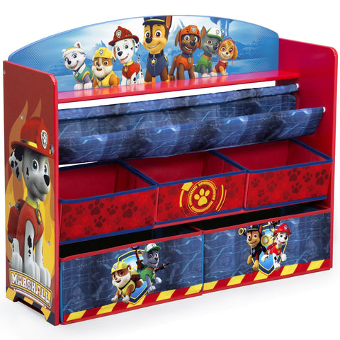 Delta Children Deluxe Book and Toy Organizer, Nick Jr. PAW Patrol
