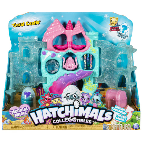 Hatchimals CollEGGtibles, Coral Castle Fold Open Playset with Exclusive Mermal Magic, for Kids Aged 5 and Up Coral Castle.