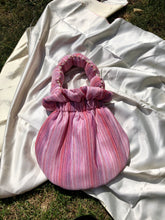 Load image into Gallery viewer, Pink Stripe Scallop Handle Bag