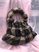 Load image into Gallery viewer, Sample sale- Brown Lurex Tartan Cake Tiered Bag