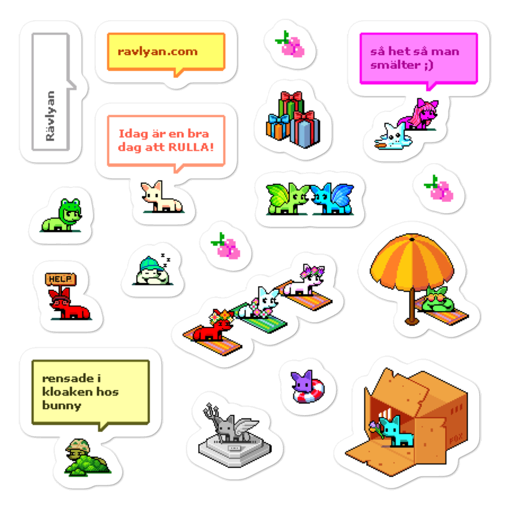 Rävlyan Sticker Sheet