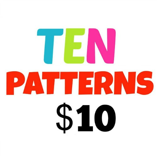 10/$10 Pattern Punch Card