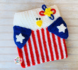Patriotic Eagle Pillow and Bag