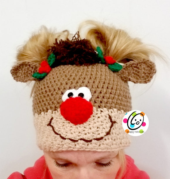 Holiday Pigtail Pals Beanie