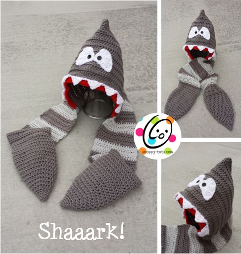 Shark Hooded Scarf