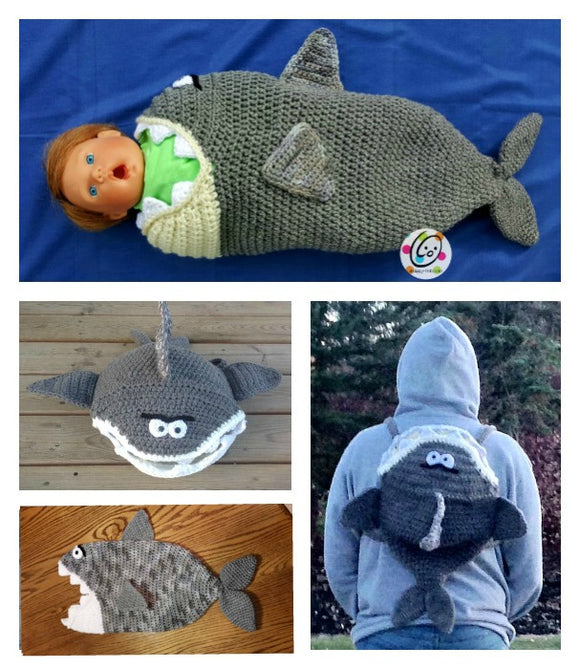 Shark Cocoon and Backpack