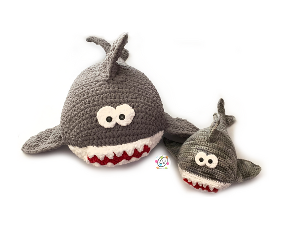 Stuffed Shark Family