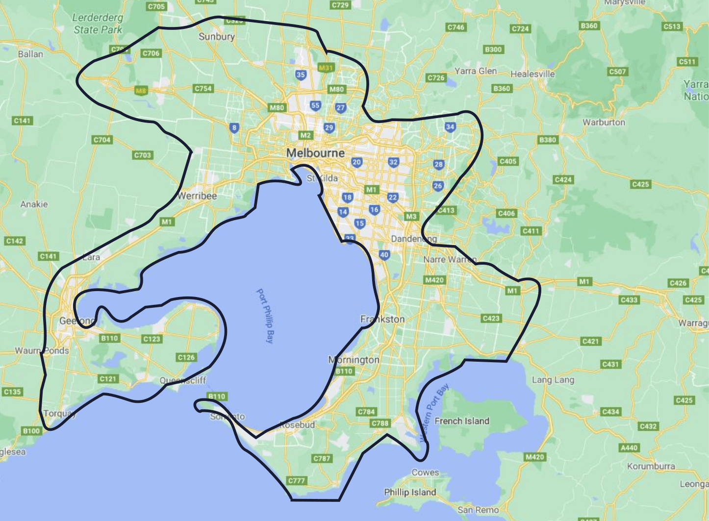 Melbourne Local Delivery Areas