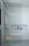 Frameless Shower Screen Fixed Panel 10mm, Walk In. With Brackets, Choose size